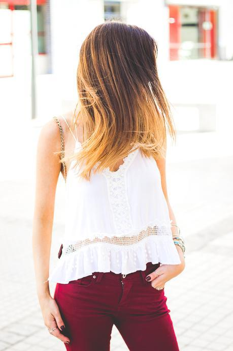 Burgundy Pants And The Best Top Ever