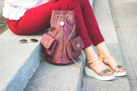 platforms, glitter, packbag