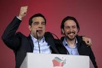 """Grecia/Shyryza-España/Podemos. ¿Simetría? ¿Equivalencia? Europa no admite izquierdismos extremistas ni devaneos filo-comunistas.- ¿El """"corralito"""" griego puede acabar con el bienestar de Occidente?"""