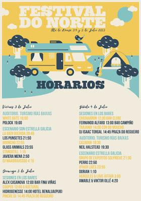 Horarios del Festival do Norte 2015