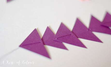 No-sew triangle garland