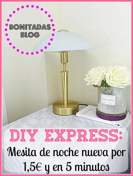 Diy express mesita de noche nueva por 1 5 y en cinco - Diy mesita de noche ...