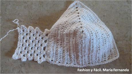 Cómo unir copas tejidas. Hacer unas copas para un croptop a crochet (How to join crochet parts of a crop top)
