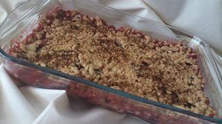 Crumble de cerezas