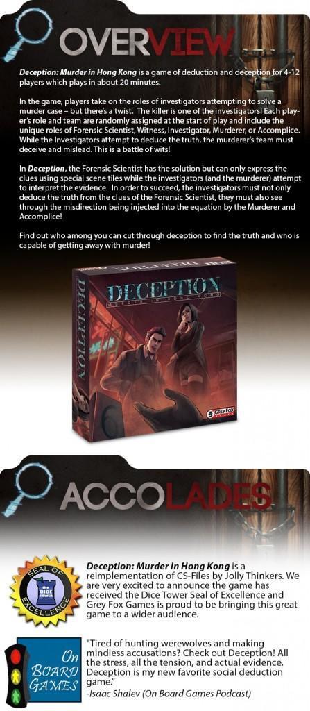Deception: Murder in Hong Kong, un juego de deducción
