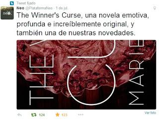 Noticia: Neo nos traerá The winner´s curse