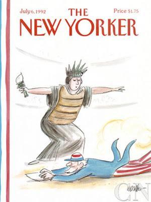 the new yorker cover 4th july 1992 warren miller