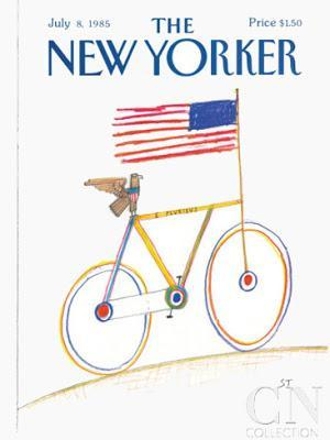 the new yorker cover 4th july 1985 saul steinberg