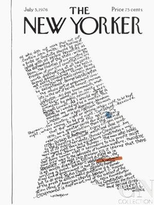 the new yorker cover 4th july 1976 lou myers