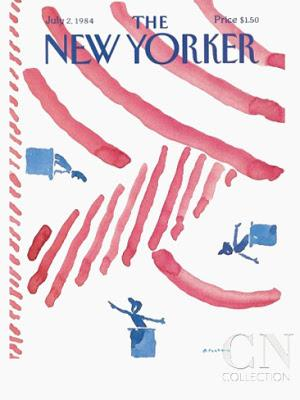 the new yorker cover 4th july 1984 r.o.blechman
