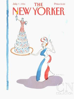 the new yorker cover 4th july 1986 r.o.blechman
