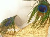 Alpargatas novia plumas pavo real