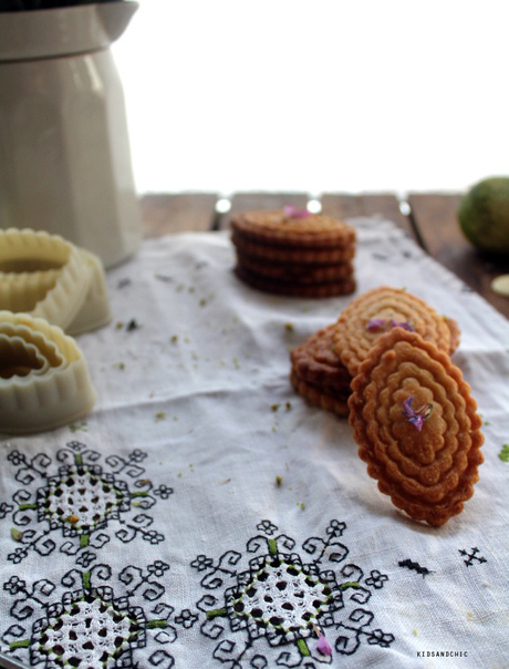 galletas de chocolate blanco y lima