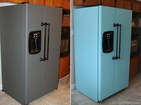 Personaliza tu nevera paperblog for Pintura pared gris azulado