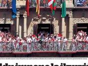 """Siete Julio, Fermín.La bandera Navarra, roja """"cadenas"""""""