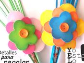 Detalles para regalar Flores goma
