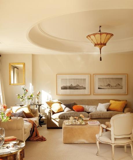 Interiores cl sicos y elegantes un atardecer de texturas for Interiores clasicos