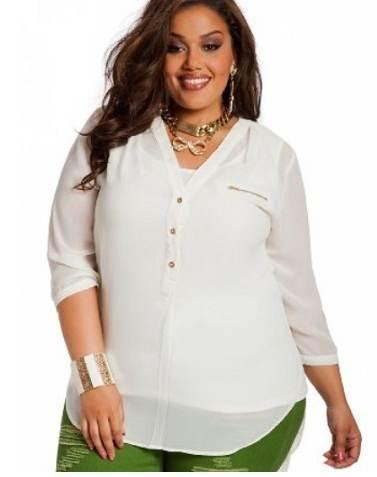 cba54c2068c6 Consejos de moda para gorditas - blusas - Paperblog