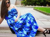Outfit Blue Maxi Dress Vestido largo Casual Cute