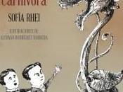 """joven Moriarty planta carnívora"""", Sofía Rhei (seudónimo). Ilustraciones Alfonso Rodríguez Barrera"""