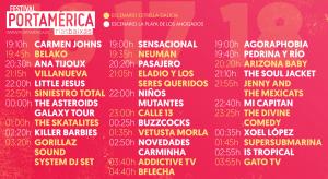 Horarios PortAmérica Rías Baixas - Solo Festival