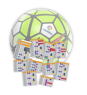 Calendario Liga BBVA y Liga Adelante Temporada 2015-2016 | Liga de ...