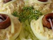 Huevos rellenos anchoas queso. Nutrición recetas Cantabriaentuboca.net