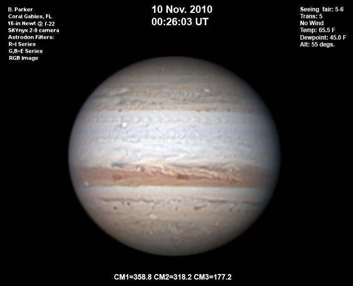 Júpiter presenta alteraciones en el Cinturón Ecuatorial Sur