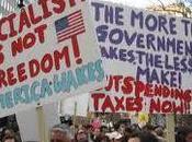 """""""Tea Party"""": menos despilfarro, corrupción, impuestos, gobierno... Obama, Zapatero"""