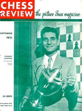 Larry Evans on the cover of Chess Life