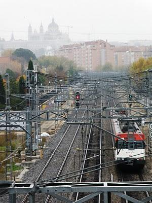Ciudades y vías de tren.