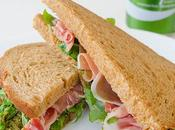 Sandwich jamón serrano pesto