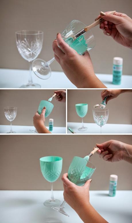 Diy copas de vino pintadas a mano paperblog for Copas decoradas a mano