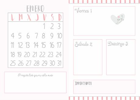 La agenda de tus sue os imprimible 2016 paperblog - Agenda imprimible 2017 ...
