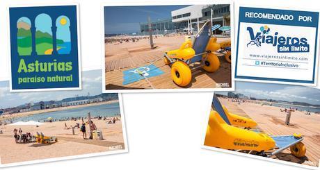 Playas accesibles en Gijón – Playa de Poniente