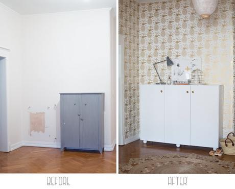 Deco el antes y despu s de un recibidor ll paperblog - Papel paredes ikea ...