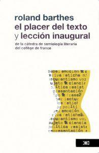 El placer del texto y Lecciòn inaugural