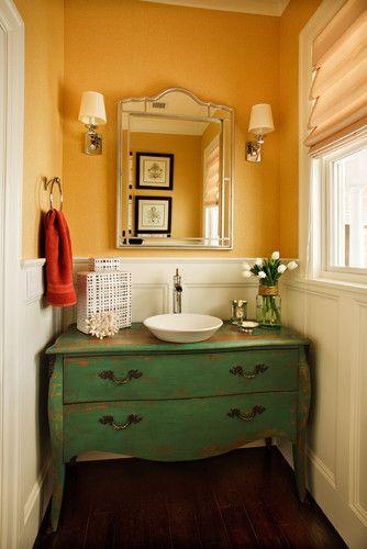 Juegos De Baño Reciclados:10 Muebles reciclados para baños – Paperblog