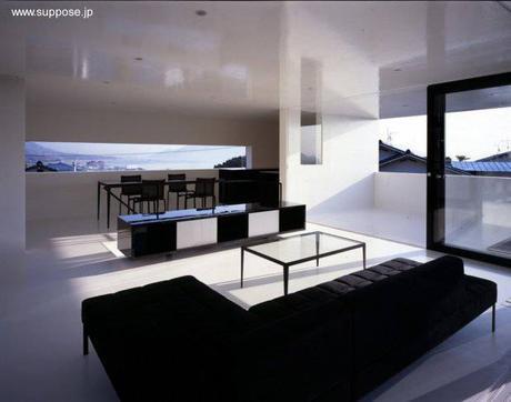 Casa japonesa minimalista de perfil futurista en hiroshima for Casa minimalista japonesa