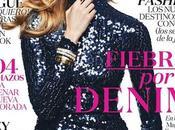Magdalena Frackowiak luce denim lentejuelas portada para Vogue México