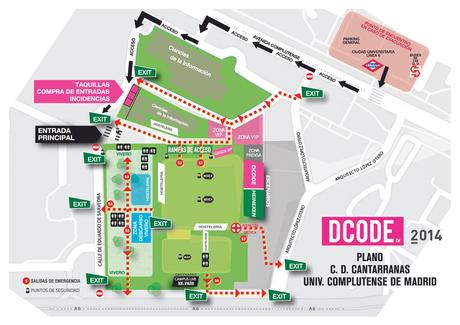 Mapa Recinto DCODE 2015 - Solo Festival