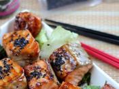 Descubre Japón esta receta salmón teriyaki sésamo negro