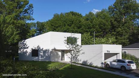 Moderna Casa De Madera Blanca De Dos Pisos En Canada Paperblog