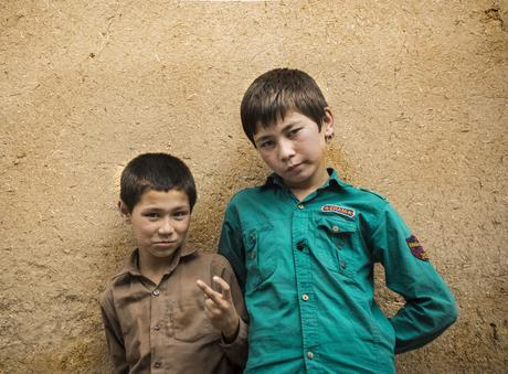Niños afganos de Yazd
