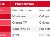 liga 2015/2016 Vodafone Orange además Movistar