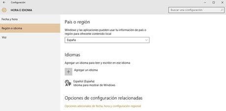 Activar Cortana Windows 10