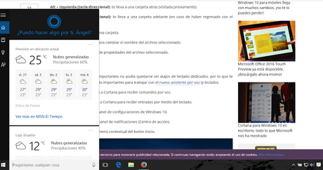 Cómo activar Cortana en Windows 10 para PC en Latinoamérica