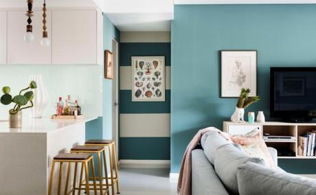 Colourfull wall living rooms