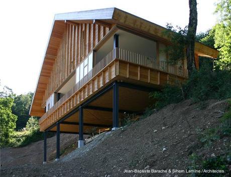 Moderna Casa De Montana En Acero Y Madera En Francia Paperblog