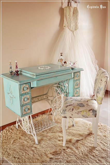 Tocador singer paperblog - Pintar un mueble en blanco ...